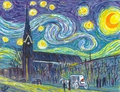 German Village Starry Night