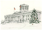 Ohio Statehouse in Winter